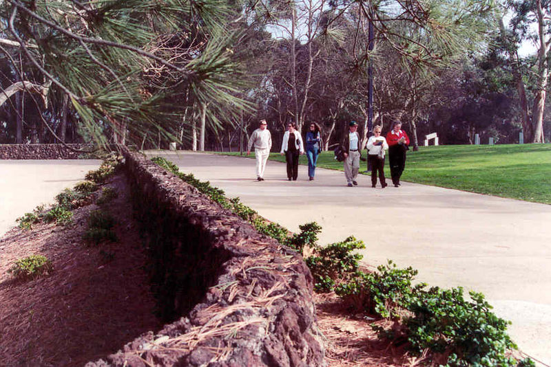 The walking tour of the campus