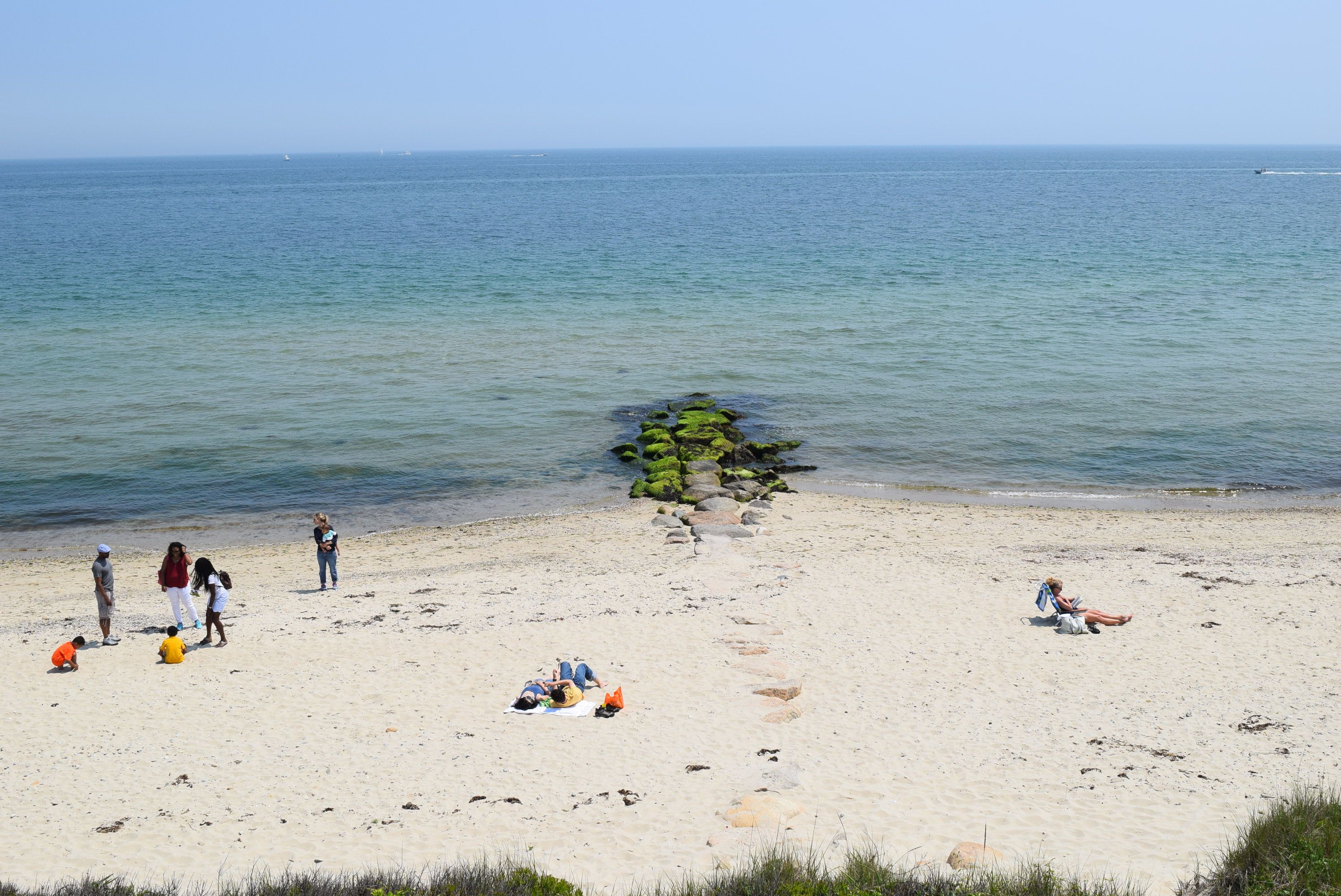 Oaks Bluff Beach in Martha's Vineyard, Massachusetts.