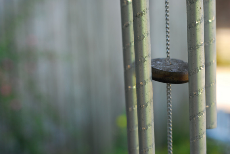 Wind chimes on the porch