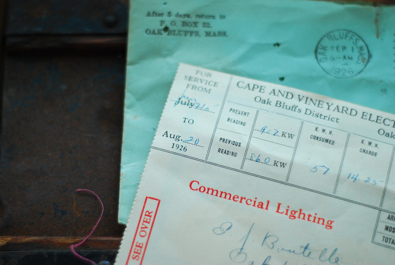 Vineyard electric bill from 1929.