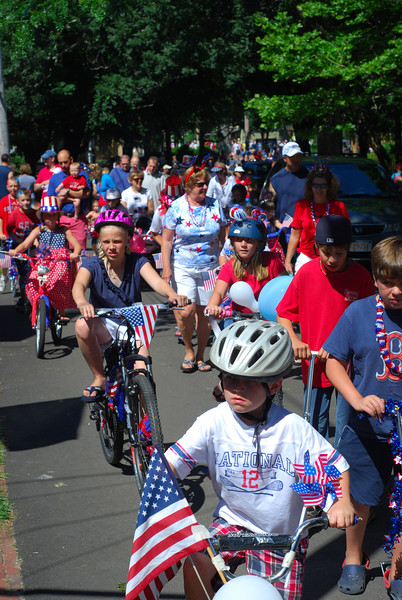 Kids' Fourth of July parade in the campground
