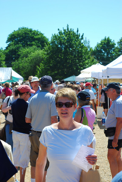 At the West Tisbury Farmers' Market.