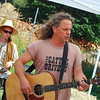 """The Cattle Drivers"" play at the West Tisbury Farmers' Market."