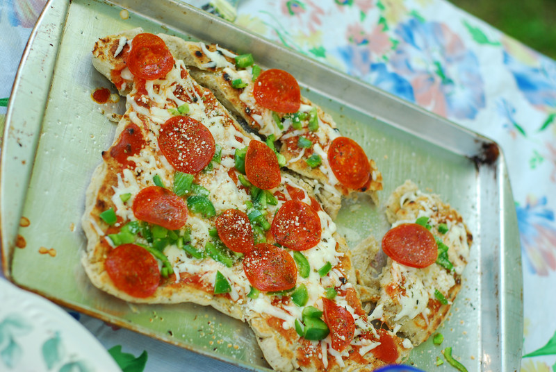 Grilled pizza... yum