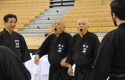 Yamasaki sensei demonstrates how to breath