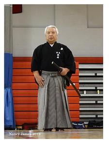 Maehara Sensei preparing for embu