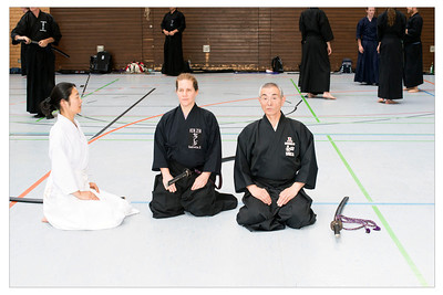 Sue being instructed on how to sit like a 7th dan by Morita Sensei