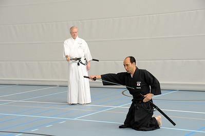 Oshita Sensei demonstrates