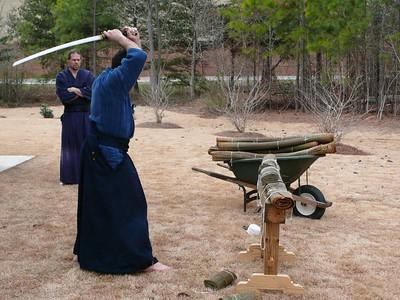 Tameshigiri, Iaido Seminar, February 2008