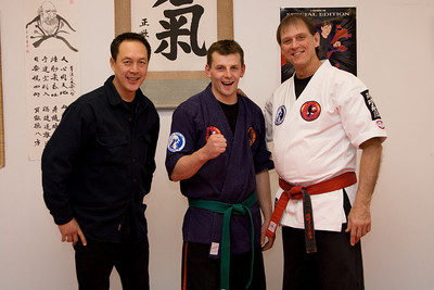 Professor Leon Jay, Alex and Master Will Higginbotham