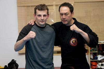 Alex with Professor Leon Jay