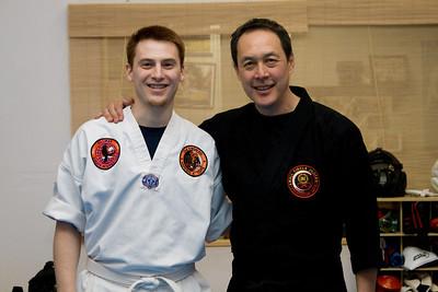 Joel with Professor Leon Jay