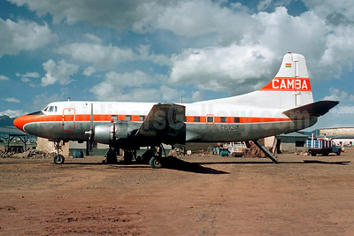 Veered off runway at Beni, Bolivia on January 20, 1977, six on board escaped uninjured, damaged beyond repair