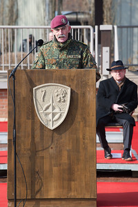 Hans-Lothar Domröse, Gerneral, Rüdiger Wolf, bei der Allied Force Command Heidelberg Deactivation Ceremony LTG Morgan Remarks Campbell Barracks