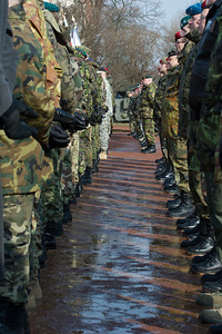 Impression, bei der Allied Force Command Heidelberg Deactivation Ceremony LTG Morgan Remarks Campbell Barracks