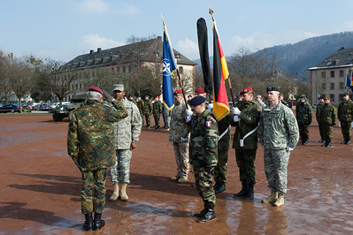 , bei der Allied Force Command Heidelberg Deactivation Ceremony LTG Morgan Remarks Campbell Barracks