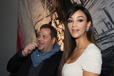 Mayk Azzato, Verona Pooth, bei dem Audi Event Painted Pictures am  28.09.12 in Frankfurt