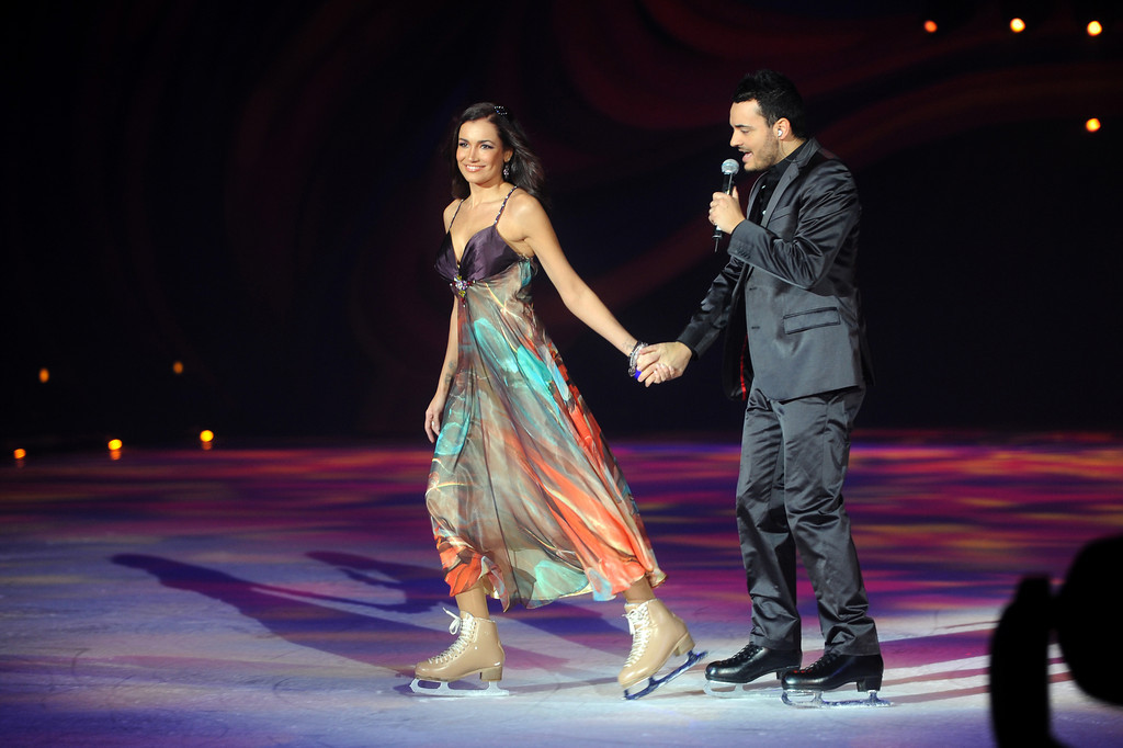 Jana Ina Zarella, Giovanni Zarrella, bei der Holiday on Ice Premiere in der SAP Arena in Mannheim am 03.02.11
