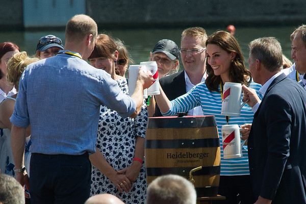 Kate und William in Heidelberg am 20.07.17