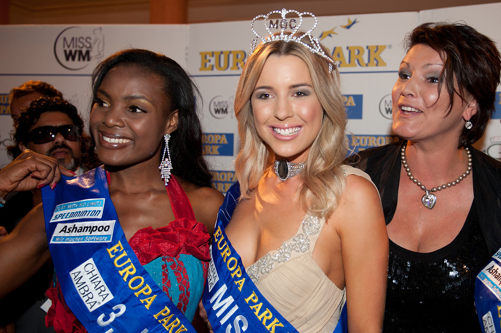 Dominique Wisniewski, Jane Ogbe, Ines Klemmer, beim Miss WM Finale am 17.06.11 im Europapark in Rust