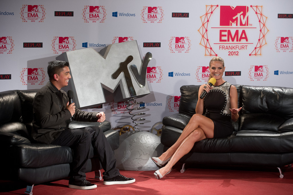 Tim Kash, Heidi Klum, beim MTV EMA Press Briefing am 10.11.12 in Frankfurt im Römer