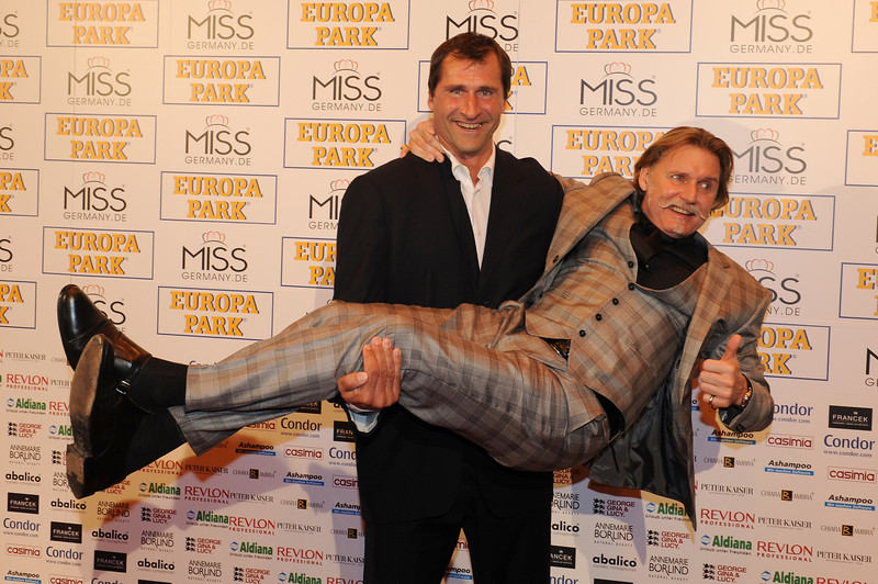 Ingo Lenssen, Lars Riedel, bei der Wahl der Miss Germany am 11.02.11 im Europapark in Rust