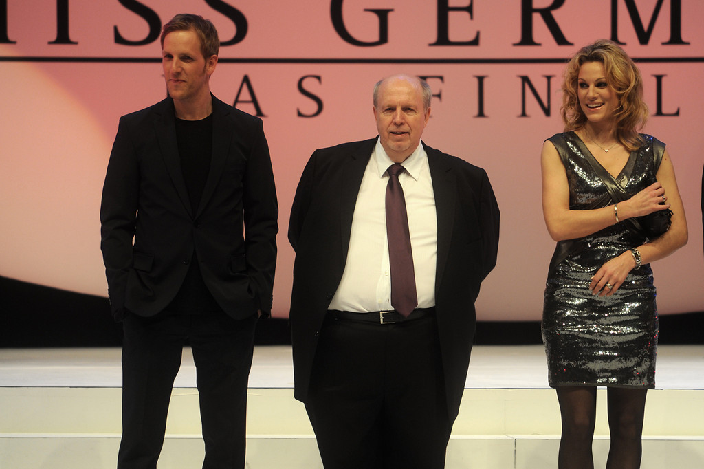 Jan Hahn, Christina Surer, Reiner Calmund, bei der Wahl der Miss Germany am 11.02.11 im Europapark in Rust