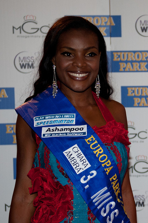 Jane Ogbe, beim Miss WM Finale am 17.06.11 im Europapark in Rust
