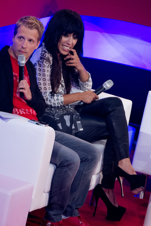Oliver Pocher, Loreen, Olly Murs, bei THE DOME 63 am 29.08.12 in Ludwigsburg im Forum Theater