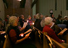 "HOLLY PELCZYNSKI - BENNINGTON BANNER  Folks sing "" This land in your land"" on Monday evening during the Martin Luther King. Jr. Holiday Celebration at the Second Congregational Church in Bennington,."
