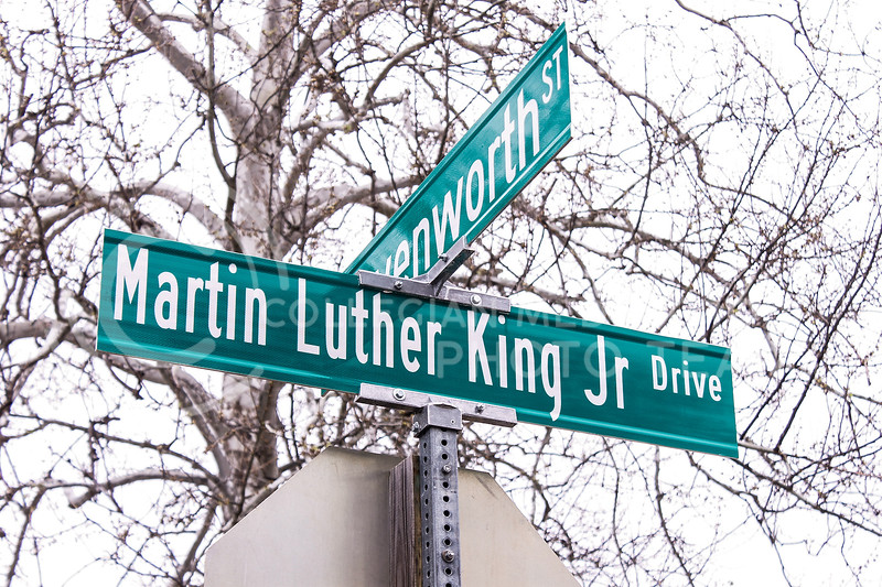 Earlier this year, city officials unveiled MLK Jr Drive, which takes the place of what was formerly 17th Street. (Kaylie McLaughlin | Collegian Media Group)