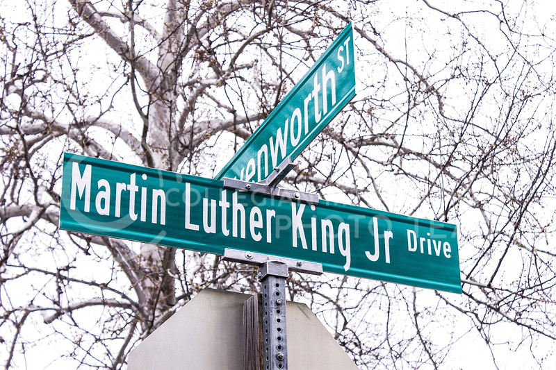 Earlier this year, city officials unveiled MLK Jr. Drive, which takes the place of what was formerly 17th Street. (Kaylie McLaughlin | Collegian Media Group)