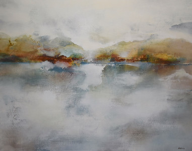 """Rising Veil-Brems, 40""""x50"""" painting on canvas"""
