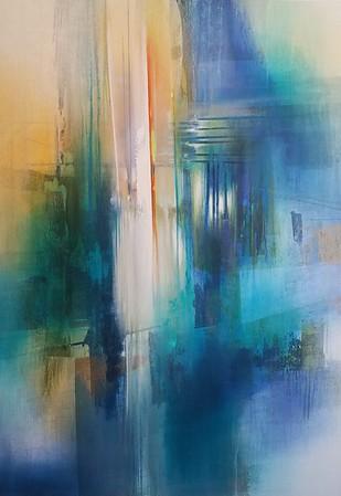 "City Lights-Nari, 46""x32"" painting on canvas"