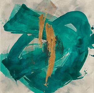 "Nexus III by Rei, 28""x28"" acrylic painting on loose canvas"