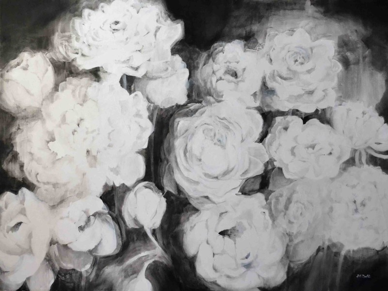 black and white flowers VI jillmartin