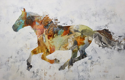 """Horse - Brems, 33""""x51.5"""" painting on canvas"""