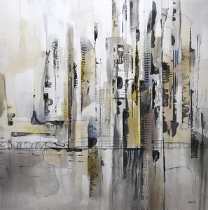 """Urban Grays - Brems, 44""""x44"""" painting on canvas"""