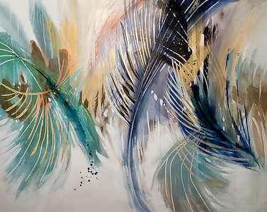 """Solstice-Nari,  50""""×64"""" painting on canvas"""
