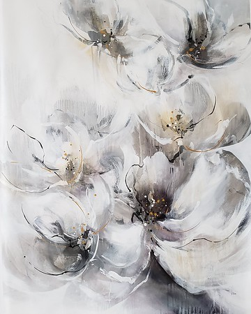 Pearlescent Bloom-Nari,  50×40 painting on canvas