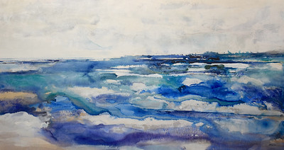 """Windswept-Brems, 33.5""""x62.5"""" painting on canvas"""