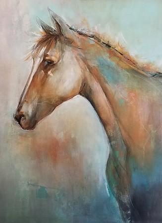 "Mustang-Nari, 46""x34"" on canvas"