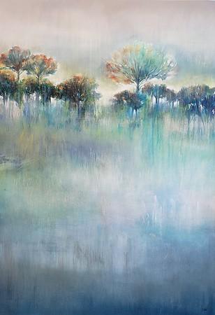"Wintergreen-Nari, 46""x32"" acrylic painting on canvas"