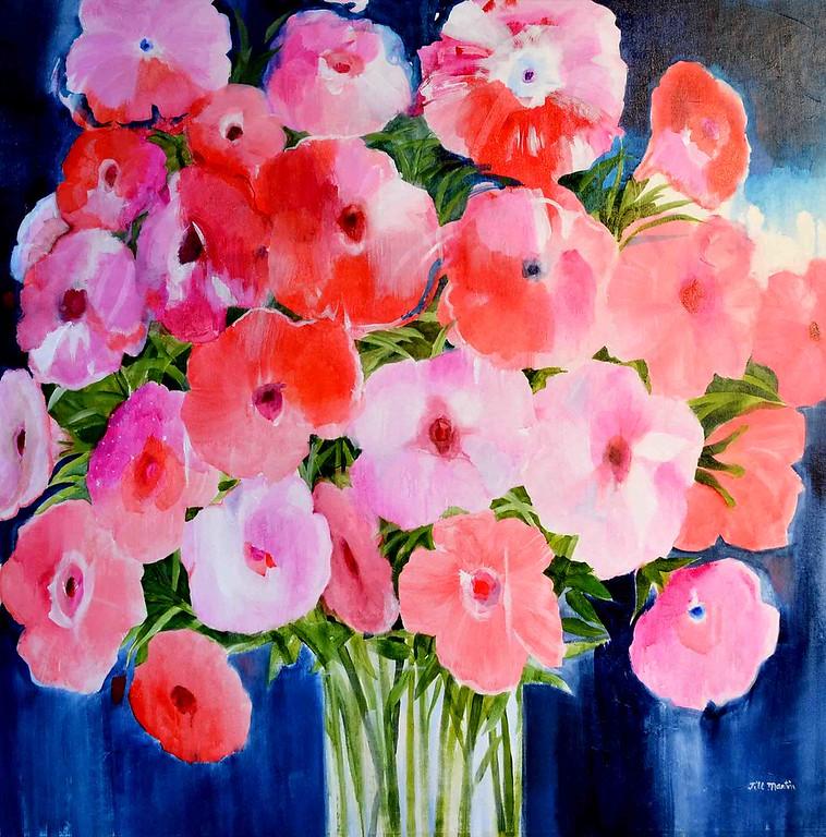 red pink white petunias jill martin