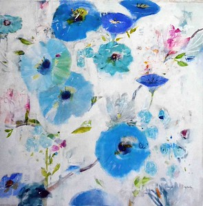 blue and turq flowers jillmartin