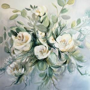 "Sage Lush-Nari, 44""x44"" painting on canvas"