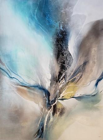 "Dream Flicker-Nari, 46""x34"" painting on canvas"