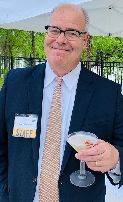 . United Way Mark Lamothe of Beverly day sips A refreshing Hot & Dirty Martini