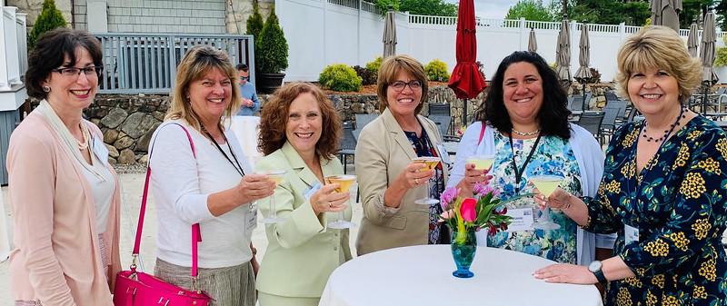 Ladies enjoying a spring fling and a martini