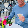 Enjoying the Limoncello lemon drop martini Jim Mogauro of Woburn